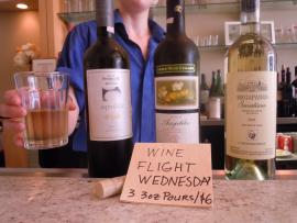 Wine Flight Wednesdays! And NOW!  1/2 OFF ANY Bottle of Wine!!!
